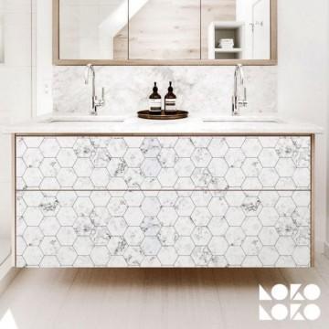 Azulejo blanco hexagonal mini